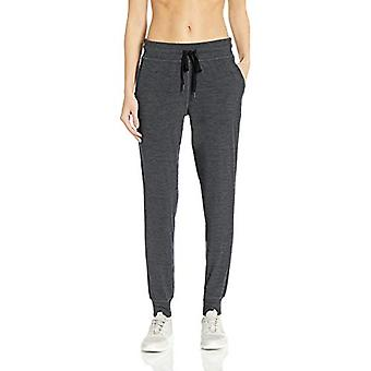 Essentials Women's Brushed Tech Stretch, Black Spacedye, Size X-Large
