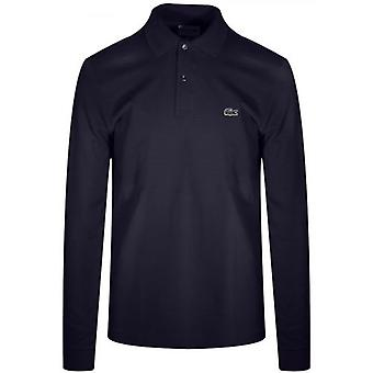 Lacoste Classic L1312 Navy Long-Sleeved Polo Shirt