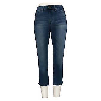 Laurie Felt Women's Jeans (XXS) Regular Silky Capri Pull-On Blue A378798