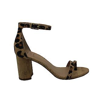 INC Womens Wanada Calf Hair Block Heel Dress Sandals Beige 5.5 Medium (B,M)
