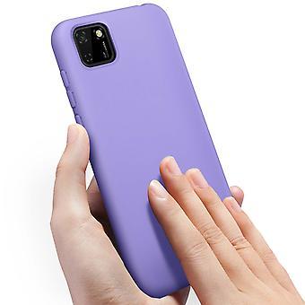 Huawei Y5p Semi-Rigid Silikon Rückseite Soft-Touch violett Finish