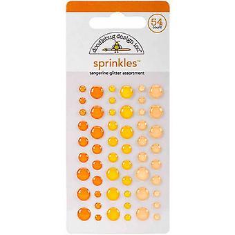 Doodlebug Design Mandarin Glitter Sprinkles (54pcs) (4536)