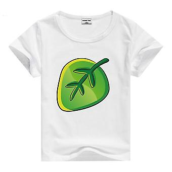 Summer Cotton Short Sleeve T-Shirt, Leaf, Infant