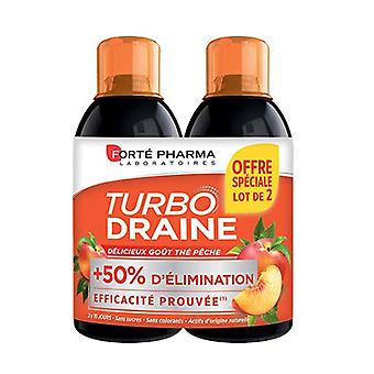 TurboDraine Tea-Peach 2 units of 500ml