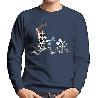 The Simpsons Itchy & ridende Halloween mænd ' s sweatshirt