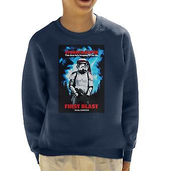 Originale Stormtrooper primo esplosione parodia per Light Kid's Sweatshirt