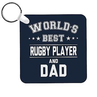 Worlds Meilleur joueur de rugby et porte-clés papa