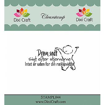 Dixi Craft Tanska Teksti 1 Kirkas leima
