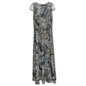 Attitudes by Renee Dress Printed Sleeveless Maxi Black A375406