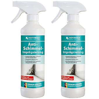 Sparset: 2 x HOTREGA® anti-mould impregnation, 500 ml spray bottle