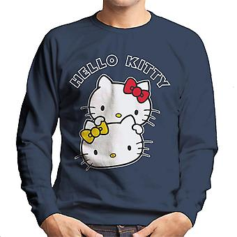 Hello Kitty og Mimmy Character Heads Mænd's Sweatshirt