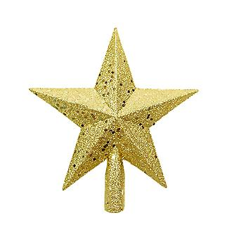 Christmas Tree Decoration Five-pointed Star Gold 11x11.5CM
