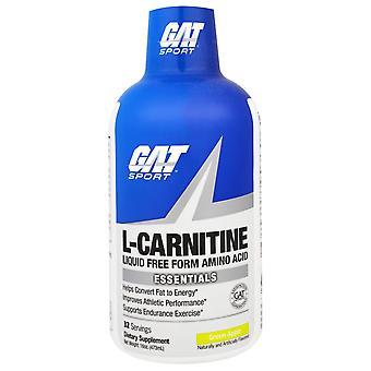 GAT, L-Carnitine, Aminozuur, Vrije Vorm, Groene Appel, 16 oz (473 ml)
