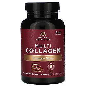 Dr. Axe / Ancient Nutrition, Multi Collagen, Beauty + Sleep, 90 Capsules