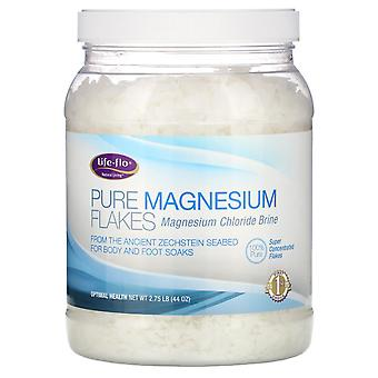 Life-flo, Flocons de magnésium pur, Brin de chlorure de magnésium, 2,75 lb (44 oz)