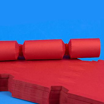 100 Red Make & Fill Your Own DIY Recycleable Christmas Cracker Boards - Bulk Buy