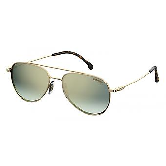 Sunglasses Unisex 187/S gold with green glass large