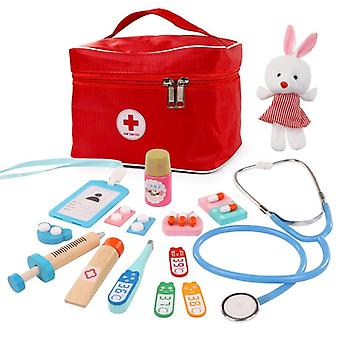 Wooden Educational Doctor Suit, Simulation Hospital Injection Tools Boys And