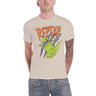 Nick 90s T Shirt Rugrats Reptar Logo new Official Mens Sand