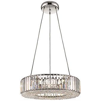 Lenteverlichting - 6 licht groot plafondplafond, helder met kristallen, G9
