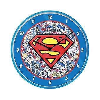 DC Comics Teräsmies Logo Seinäkello