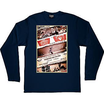 1968 European Cup Final Collage Navy Blue T-shirt met lange mouwen