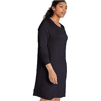 Brand - Daily Ritual Women's Supersoft Terry Long-Sleeve Raglan Sweatshirt Dress, Navy, Small