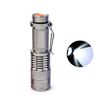 Led Flashlight Torch -q5 Led 14500 Aa Lamp, 3-modes Portable Zoom For Outdoor