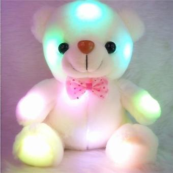 Glowing Luminous Plush Bear Baby Toys Lighting For Children Birthday Xmas Gifts (oso de luz de color)