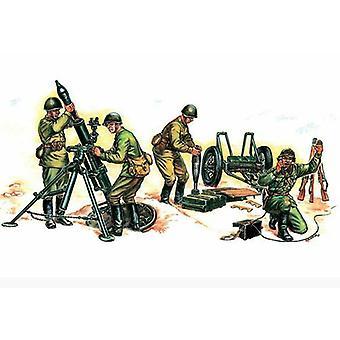 Zvezda sovjetiska 120mm murbruk med besättning 1/ 72 Skala 6147