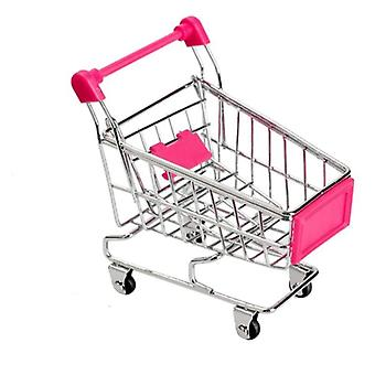 Mini Shopping Cart Decor Handcart Storage Baby Hand Supermarket Trolley Toy