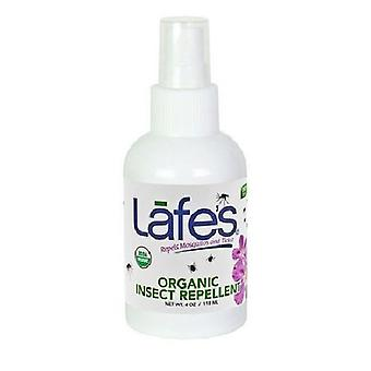 Lafes Natural Body Care Organic Insect Repelent, 4 oz