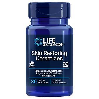 Prolongation de la durée de vie utile Restauration de la peau Ceramides, 30 bouchons de légumes liquides
