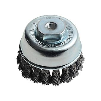 Lessmann Knot Cup Brush 65mm M10 x 0.50 Steel Wire LES482214