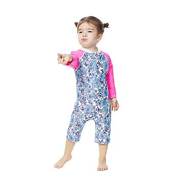 Bonverano Baby Girls UPF 50+ Sun Protection Long Sleeves Zipper Sunsuit
