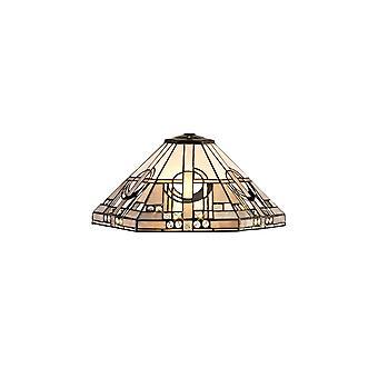 Aztek, Tiffany 40cm sombra sólo adecuado para colgante / techo / mesa de la lámpara, blanco / gris / negro / cristal claro