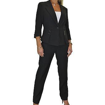 Womens Formal Business weich gefüttert Hose Anzug Damen Smart Designer Look waschbar Büro 2 Stück 8-16