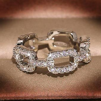 Unique handmade 925 silver plated vintage ring in ribbon