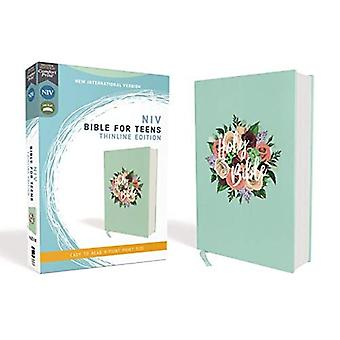NIV, Bible for Teens, Thinline Edition, Cloth over Board, Floral, Red Letter Edition, Comfort Print