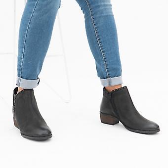 لوتس بيني السيدات الجلود الكاحل أحذية الأسود / ثعبان