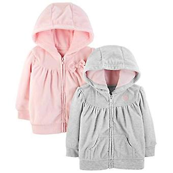 Bucurii simple de Carterăs Baby Girlsă 2-Pack Fleece Full Zip Hoodies