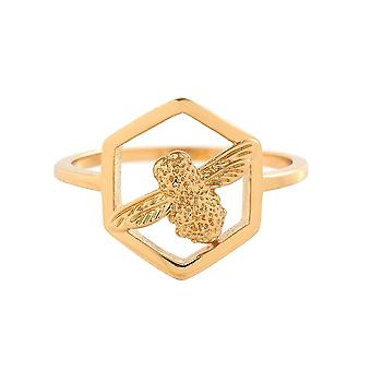 Olivia Burton Obj16amr05 Honeycomb Bee Ring Gold