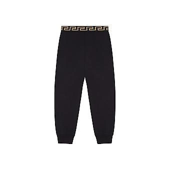 Joggeurs noirs en coton Versace