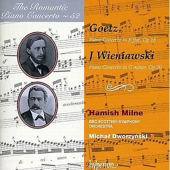 Goetz/Wieniawski - The Romantic Piano Concerto, Vol. 52 - Goetz & Wieniawski [CD] USA import
