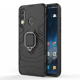 Keysion Huawei P30 Case - Magnetic Shockproof Case Cover Cas TPU Black + Kickstand