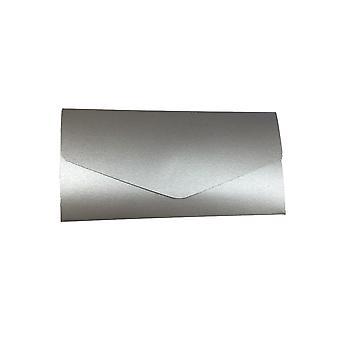 10 invitations inari Silver pearlised landscape pocketfold