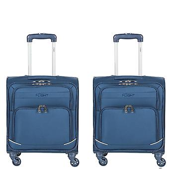 Flight knight lightweight 8 wheel 360 degree spin cabin suitcases & hold luggage ryanair ba approved