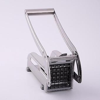 Cortadores de batata de aço inoxidável, máquina de corte de batatas fritas