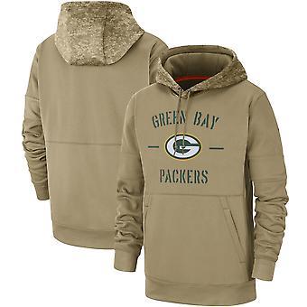 Men's Green Bay Packers Slant Strike Tri-Blend Raglan Pullover Huppari Top WYG055
