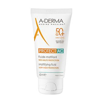 Aderma protect ac mattifying fluid 50+ 40 ml
